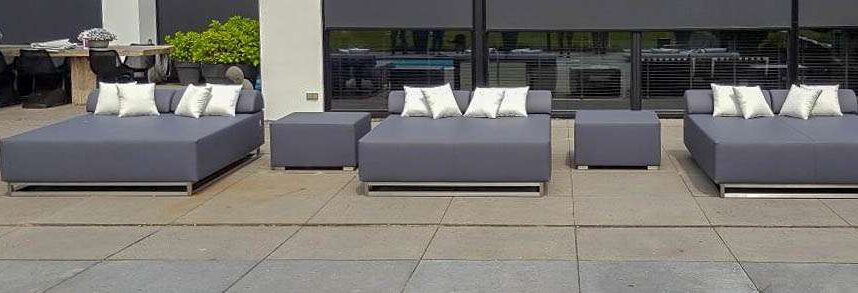 double garden lounger